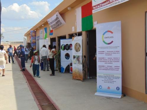 Un pavillon pour les entrepreneurs de l'Ocean Indien soutenus par l'OIF par le biais du CONFEJES