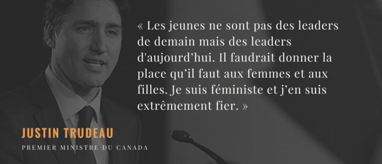Article : Justin TRUDEAU défend les jeunes et les femmes