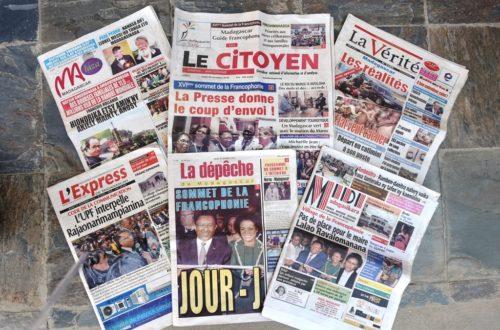 Article : Jour J du Sommet de la Francophonie : revue de la presse locale